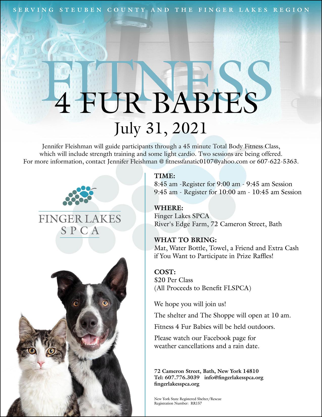 Finger Lakes SPCA | Fitness 4 Fur Babies