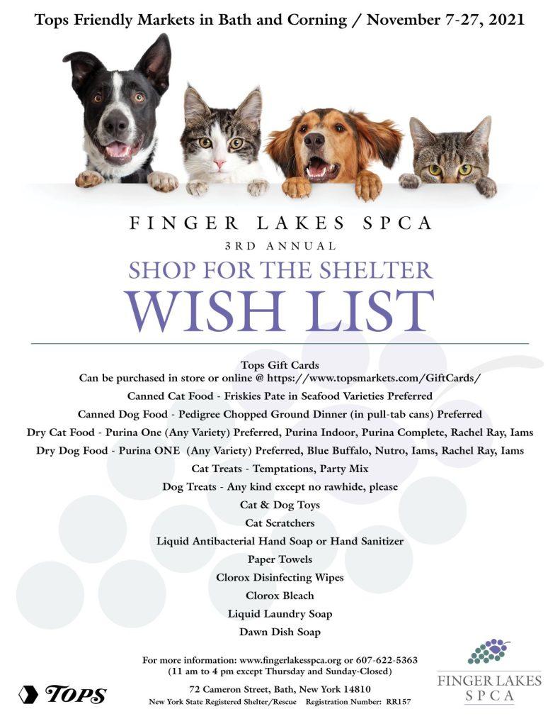 FLSPCA Shop for the Shelter 2021   Tops Friendly Market